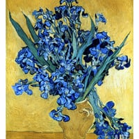 Vase of Irises Against a Yellow Background, c.1890 Giclee Print by Vincent van Gogh at Art.com