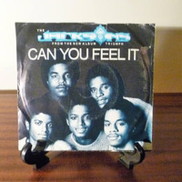 "Vintage 1980 The Jacksons ""Can You Feel It"" 45 Record Album / ""Bless His Soul"" / Retro Double Sided Single Album / Michael Jackson"