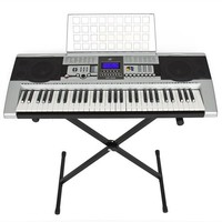 61 Key Electronic Music Keyboard Electronic Piano With X Stand LCD Display Screen
