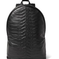 Alexander McQueen - Ribcage Embossed Leather Backpack