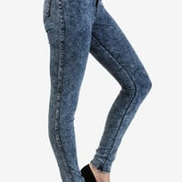 "11"" Super High Rise Dark Acid Wash Denim"