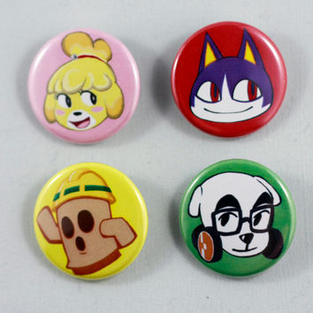 Animal Crossing New Leaf Buttons/Pins | Eatinice