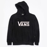 VANS fleece sweater fashion casual men and women students sweater hoodie letter printing shirt Black