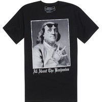 Riot Society All About The Benjamins T-Shirt - Mens Tee - Black