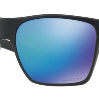Oakley Two Face XL Sunglasses in Matte Black Prizm Sapphire Polarized