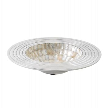 Mother Of Pearl Mosaic Decorative Bowl