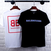 Balenciaga 2019 new big logo double B printed short-sleeved T-shirt
