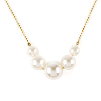 Gold Chain and Graduated Pearl Necklace