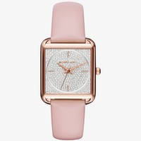 Lake Pavé Rose Gold-Tone and Leather Watch | Michael Kors