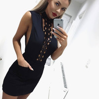 Slim Hollow Out Sexy Club Shaped Skirt [11462533967]