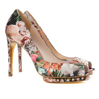 LEONAR - Tangled floral print shoe - Nude Pink | Womens | Ted Baker UK