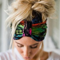 Extra Wide Tie Dye Turband Headband