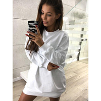Casual Loose Round Neck Long-Sleeved Sweater