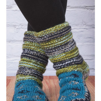 Ribbed Slipper Socks