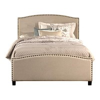 1932 Kerstein Bed Set - Full - Rails Included - Light Taupe