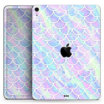 "Iridescent Dahlia v8 - Full Body Skin Decal for the Apple iPad Pro 12.9"", 11"", 10.5"", 9.7"", Air or Mini (All Models Available)"