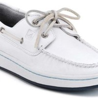 Sperry Top-Sider Sperry Cup 2-Eye Boat Sneaker WhiteLeather, Size 13M  Men's
