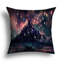 "Home Style pillowcase Disney rapunzel Throw Pillow Cushion Cover manual custom home life (12"" x 12"")"