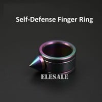 High Quality Stainless Steel Color Self Defense Ring For Women Men Safety Outdoor Survial Kit Self-defense Weapon Glass Breaker