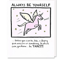Always Be Yourself Card - Urban Outfitters