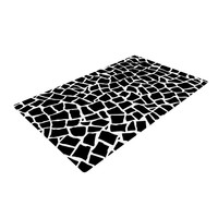 "Project M ""British Mosaic Black"" Woven Area Rug, 4' x 6'  - Outlet Item"