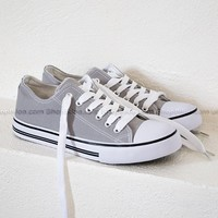 Canvas Sneaker Shoes | Grey