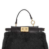 Peek-A-Boo Micro Leather and Shearling Tote from FENDI | Luxury fashion online | STYLEBOP.com