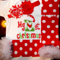 My First Christmas Outfit, Baby Girl Christmas Outfits, Baby Girl My First Christmas Outfits, Infant Girl Christmas Outfits,