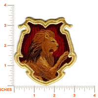 """Harry Potter """"Gryffindor"""" Hogwarts House Crest Inspired - Embroidered Iron-on Patch"""