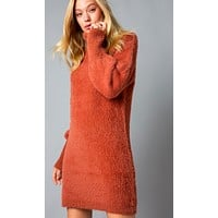 Artic Ice Sweater Dress - Clay