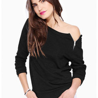 Long Sleeve Zip T-Shirt