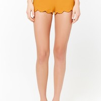 Scalloped High-Waist Shorts