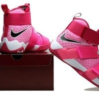 DCCK Nike LeBron Soldier 10 X 'Pink Storm' Sneaker