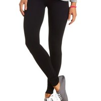 High-Waisted Cotton Leggings by Charlotte Russe