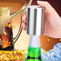 Stainless Steel Beer Bottle Opener Automatic Bottle Openers Beer Soda Cap Wine Bottle Opener kitchen gadgets