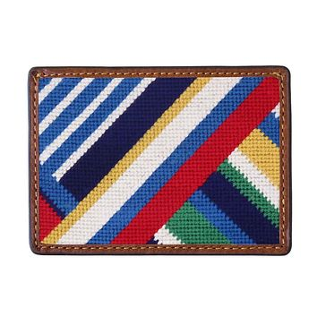 Essex Needlepoint Credit Card Wallet by Smathers & Branson