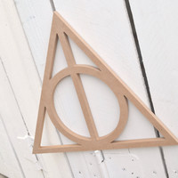 Unfinished Wooden Decor - Harry Potter Deathly Hallows Shape - Ready to paint or DIY!