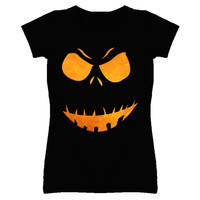 Lady's Angry Skeleton Halloween T-Shirt