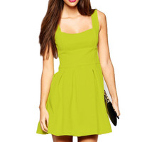 Sleeveless Cotton Mini Skater Dress