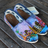 San Francisco Skyline TOMS by BStreetShoes on Etsy