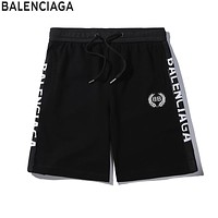 Balenciaga 2019 new custom double-sided LOGO men and women shorts