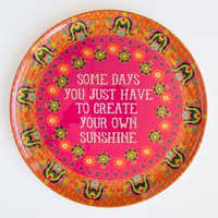 Melamine  Plate:  Create  Your  Own  Sunshine  Melamine  Plate  From  Natural  Life