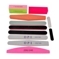 LMFXT3 Le Fu Li 11pcs/set Nail Art Sanding Salon Nail Buffer Nail Files Sandpaper Manicure UV Gel Polisher Manicure Pedicure Nail Tools