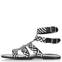 HIGHLY Woven Gladiator Sandals - View All - Shoes - Topshop USA