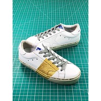 Ggdb Golden Goose Uomo Donna White Gold Sneakers Shoes