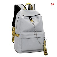 Off White Fashion New Letter Print Leisure Women Men Backpack Bag School Bag 3#