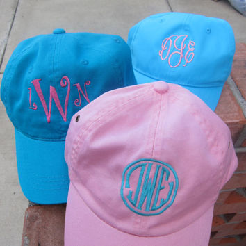 Monogrammed Baseball Hat-Great for Bridesmaids, Teens, Graduation, Best Friends, Greek, and Birthday Gifts