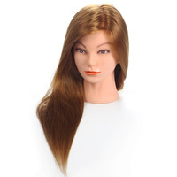 "20""Mannequin Head Hair Synthetic Mannequin Hairdressing Doll Heads Cosmetology Mannequin Heads Women Hairdresser Manikin Sale."