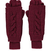 2-in-1 Cable Knit Gloves