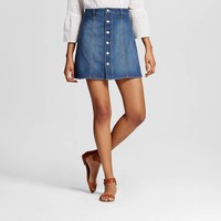 Women's Button Front Skirt - Mossimo Supply Co. (Juniors') : Target